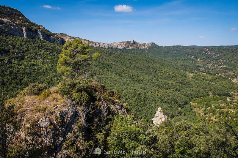 La Gallina vista desde el sendero de la Pixera a la Foradada
