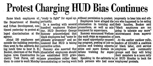 Protests of racism continue at HUD: 1970 | by Washington Area Spark