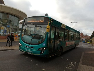 Arriva North East 1425 oddly appearing on the X12