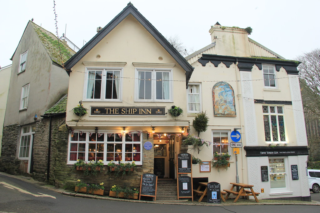 The Ship Inn, Fowey, Cornwall.