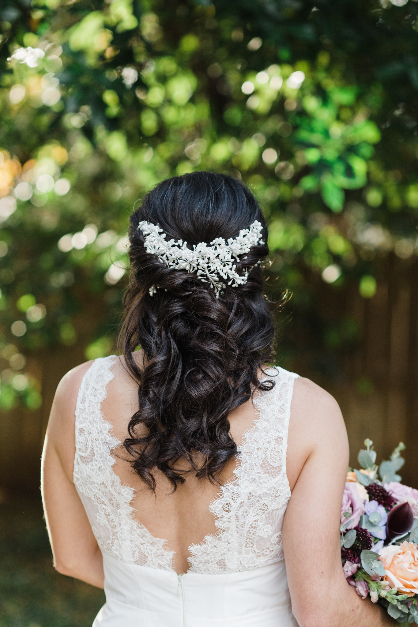 bridal hair detail