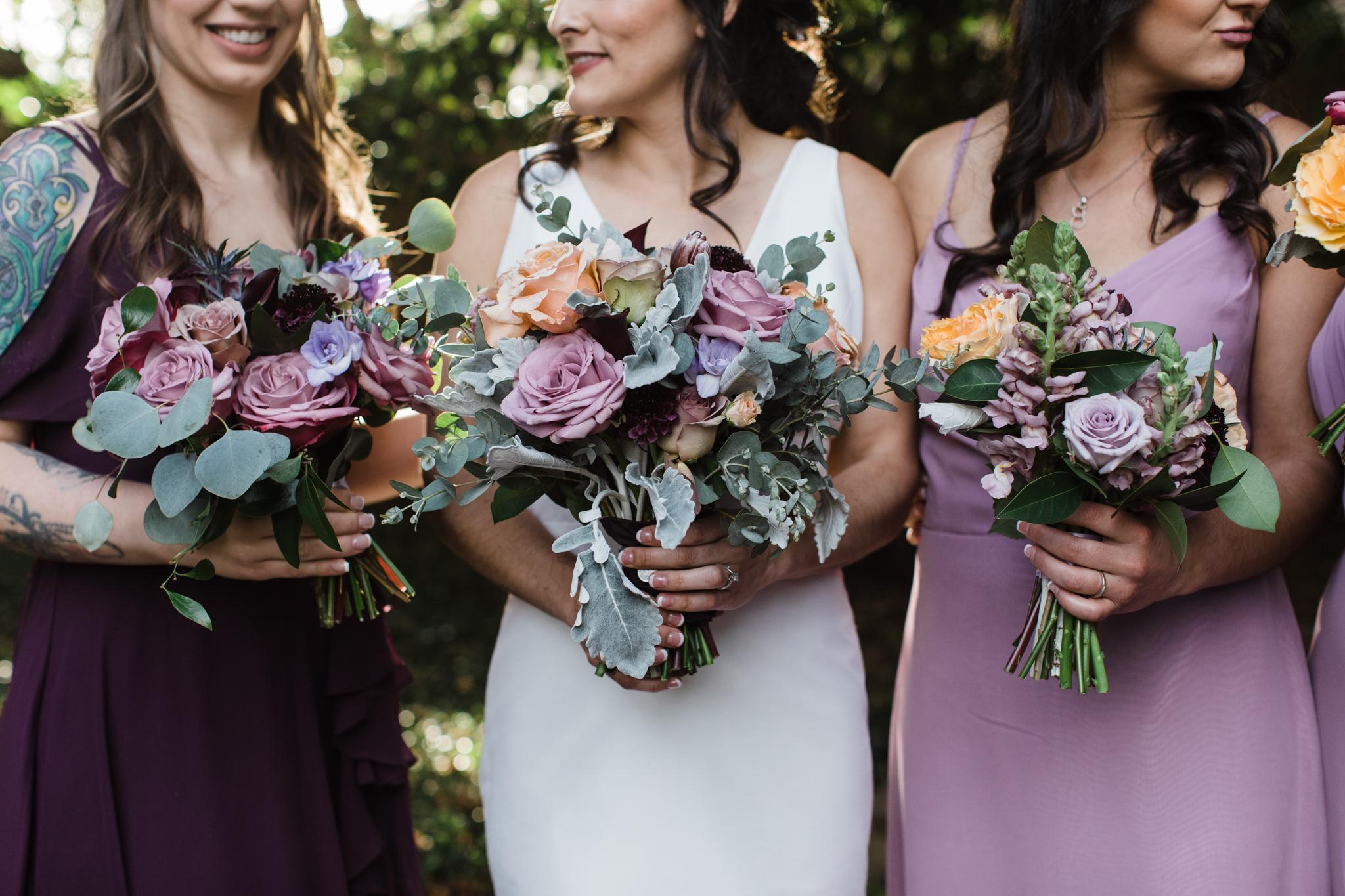 bridesmaids flower details