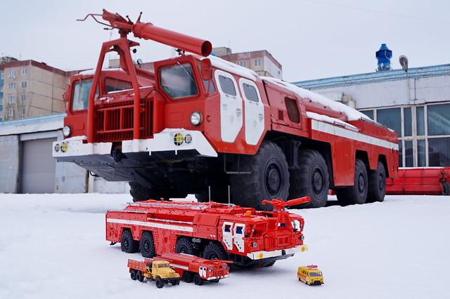 MAZ-7313-AA60 Airfield Fire Truck