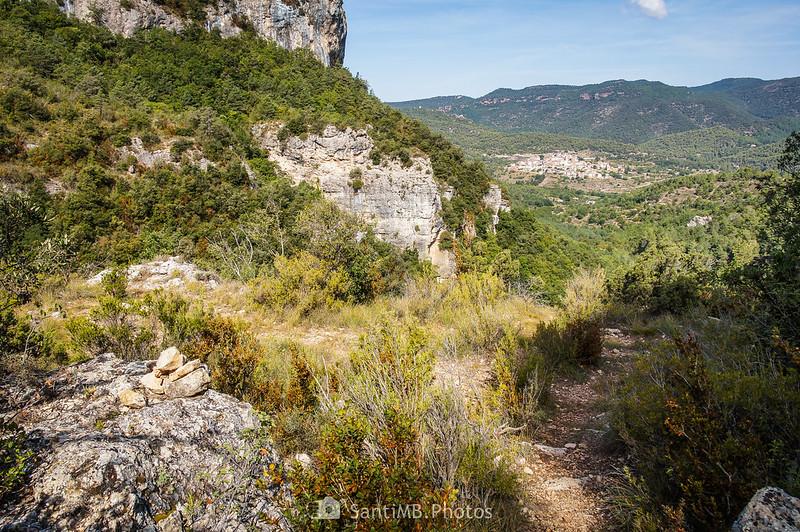 Mirador natural en el sendero de La Pixera