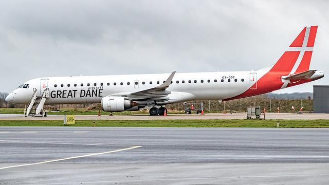 Grate Dane Embraer ERJ-195 OY-GDC, 05/01/2020