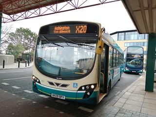 Arriva Northumbria 1407 on the X20
