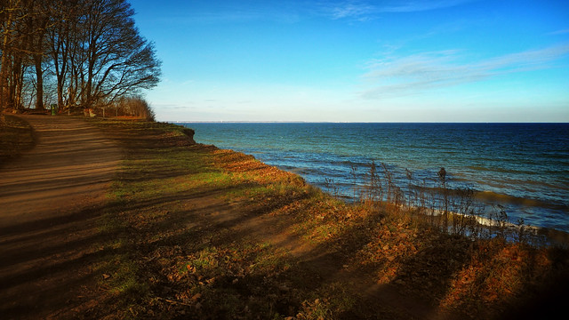 Baltic sea - view with light and shadow