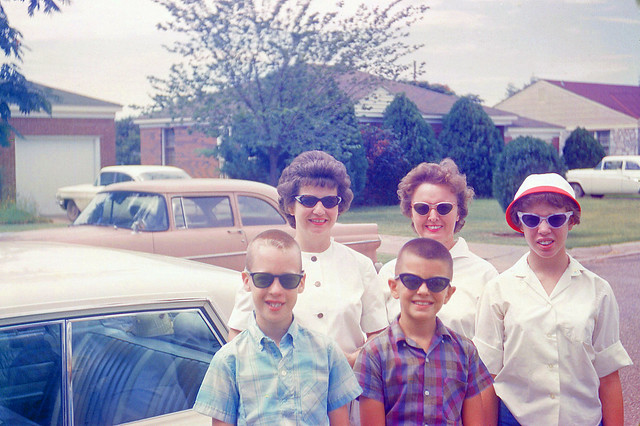 1950's family with sunglasses