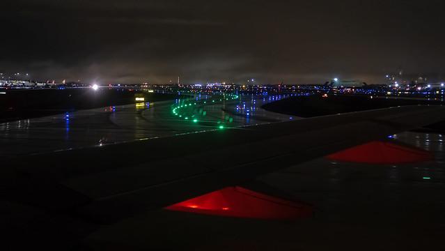 Colorful Rainy Night At CLT