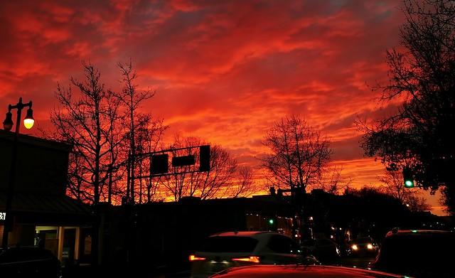 Intense weeknight sunset
