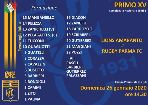 Lions Amaranto vs RPFC 26.01.20