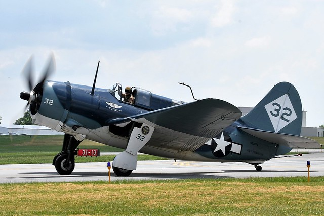 ABD_1155 Curtiss SB2C Helldiver Civil Registration N92879 83589 USN USS Franklin Carrier-based dive bomber aircraft produced for the United States Navy during World War II. It replaced the Douglas SBD Dauntless in US Navy service