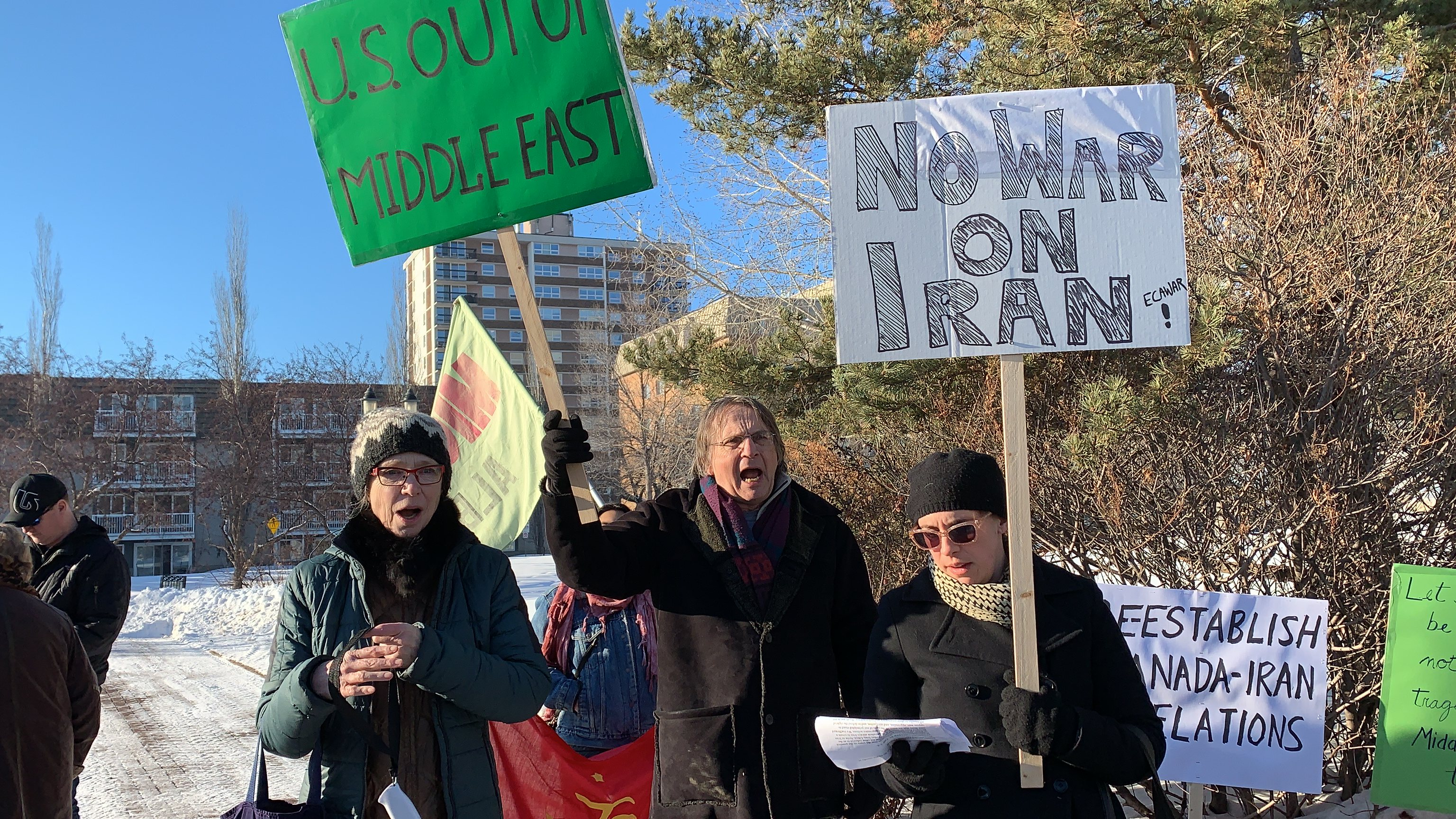 No War On Iran - Global Day of Action - Edmonton