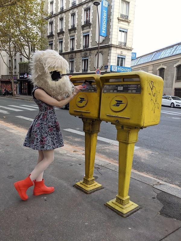 mailing postcards