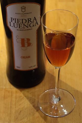 Sherry Piedra Luenga (vom Weingut Bodegas Robles in Andalusien) zur Begrüßung