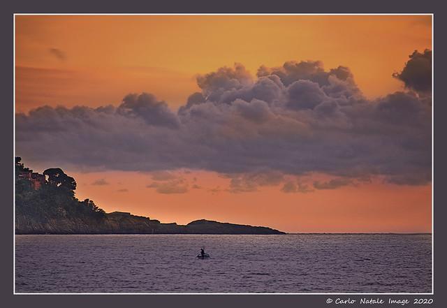 Punta Chiappa at sunset