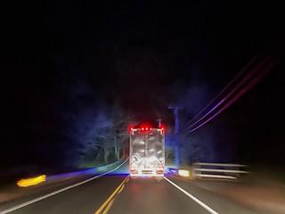 Neon Tractor Trailer