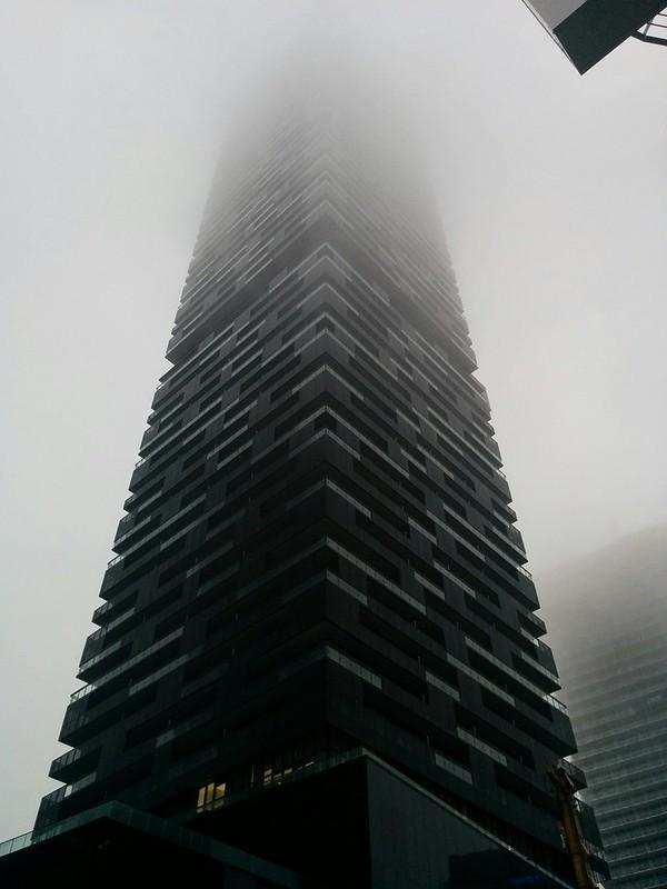 E Condos, vanishing into fog #toronto #yongeandeglinton #skyline #condos #econdos #winter #grey #fog