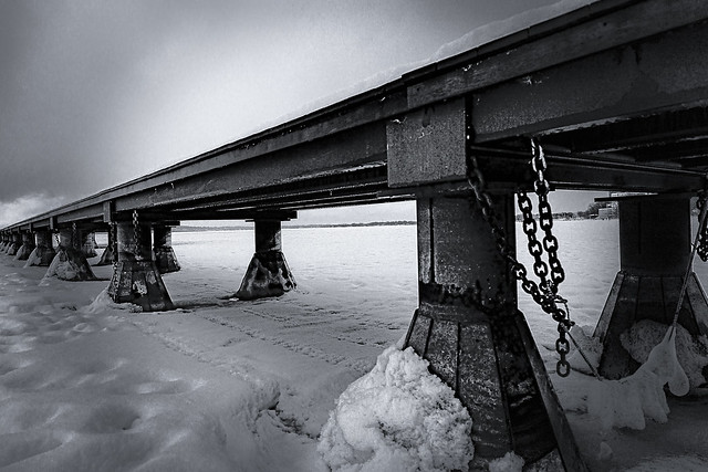 Pier over Icy Waters