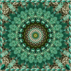 Pretty Green Sparkling Mandala