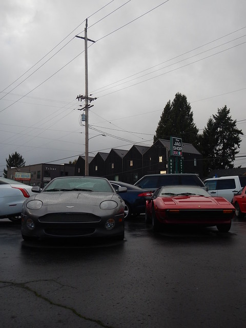 2002 Aston Martin DB7 Vantage and 1985 Ferrari 308 GTSi