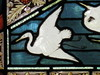 """Detail of the Upper Panel of """"The Lay of the Last Minstrel"""" Stained Glass Window by William Montgomery; """"Warwilla"""" Modern Gothic Queen Anne Mansion - Corner St Kilda Road and Beatrice Street, Melbourne"""