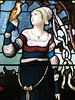 """Detail of """"The Lay of the Last Minstrel"""" Stained Glass Window by William Montgomery; """"Warwilla"""" Modern Gothic Queen Anne Mansion - Corner St Kilda Road and Beatrice Street, Melbourne"""