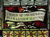 "The Literary Quote Panel of ""The Lay of the Last Minstrel"" Stained Glass Window by William Montgomery; ""Warwilla"" Modern Gothic Queen Anne Mansion - Corner St Kilda Road and Beatrice Street, Melbourne"