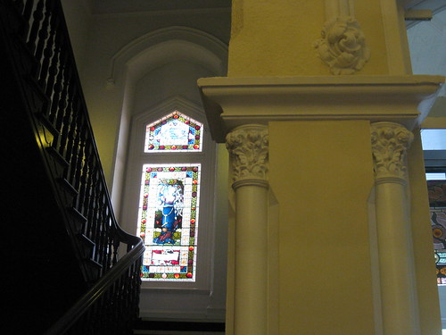 "The Stair Hall of ""Warwilla"" Modern Gothic Queen Anne Mansion - Corner St Kilda Road and Beatrice Street, Melbourne"