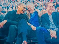 Barack Obama with Joe Biden and son.