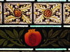"""Border Detail of """"The Lay of the Last Minstrel"""" Stained Glass Window by William Montgomery; """"Warwilla"""" Modern Gothic Queen Anne Mansion - Corner St Kilda Road and Beatrice Street, Melbourne"""