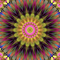 Bursting & Colorful Kaleidoscope Mandala