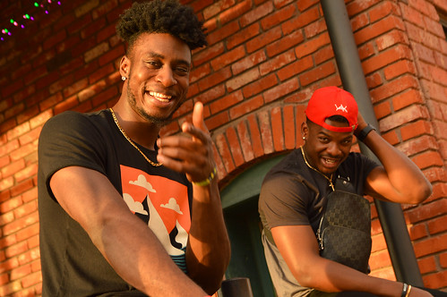downtown bricktown 2019 july portrait yak youngafricankings hat red brick sunset junior manni african basketball player