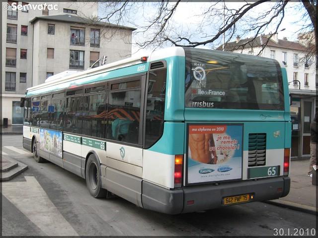 Irisbus Agora Line – RATP (Régie Autonome des Transports Parisiens) / STIF (Syndicat des Transports d'Île-de-France) n°8203