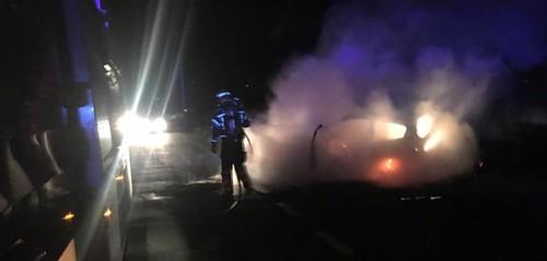 Incendio de vehículo en Teguise