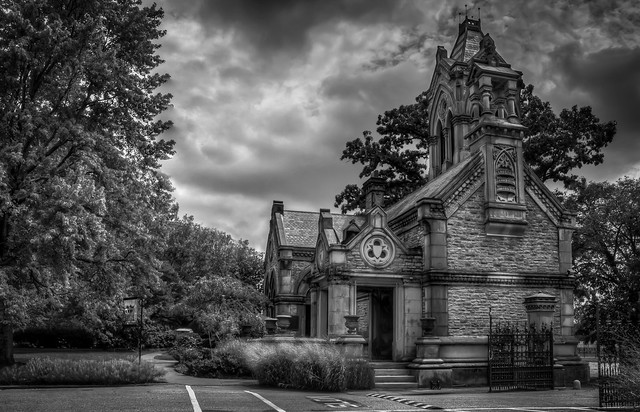 Historic Office and Main Gate at Spring Grove Cemetery & Arboretum