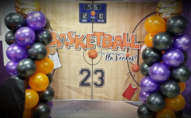 Basketball birthday backdrop