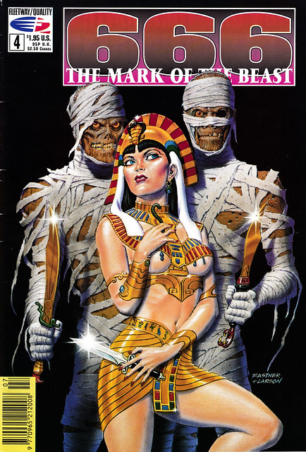 Comic Book Cover 666 The Mark of the Beast No 4