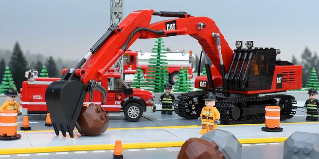 Lego Fire Excavator