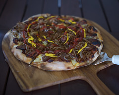 Aust day special.... sausage sizzle pizza........ about as bogan as we go.