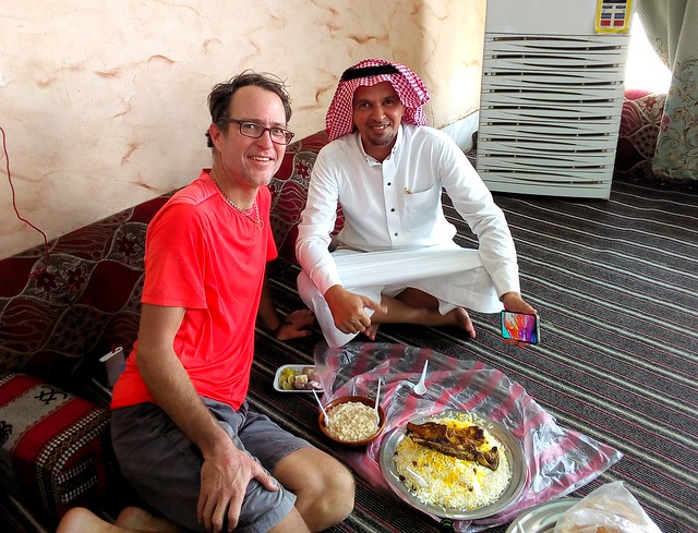Muhamed, a teacher in Mujairmah, treated me to lunch two days in a row.  He's is very kind hearted. by bryandkeith on flickr