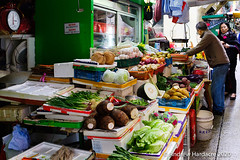 Vegetable stall open even at new year