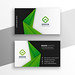 bashxyz6 posted a photo:green abstract modern business card design