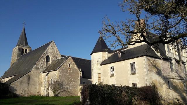 Prieuré et église Saint-Sulpice au Louroux (Indre-et-Loire)