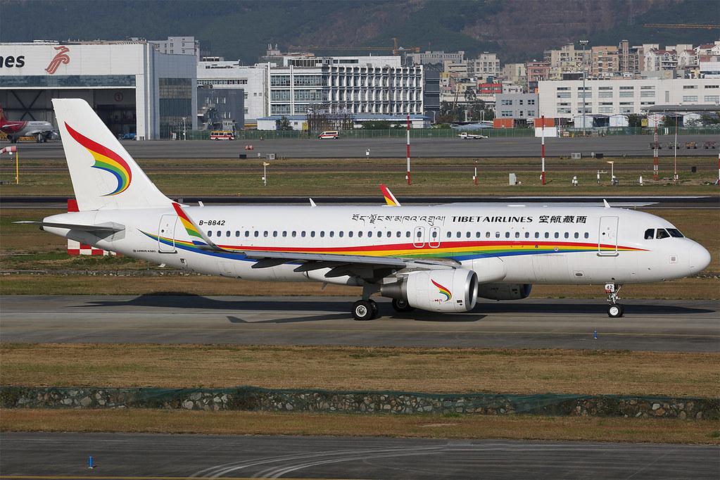 B-8842 A320 Tibet Airlines SZX 20191130