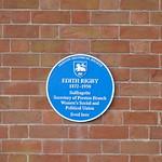Open Plaque - Preston, Winckley Square [Edith Rigby] 191228