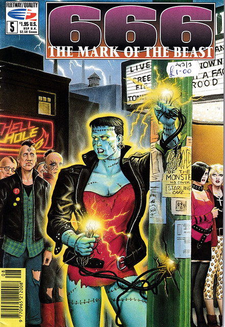 Comic Book Cover 666 The Mark of the Beast No 5