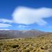 de Andes nabij Las Leñas met lenswolken, Argentinië 2019