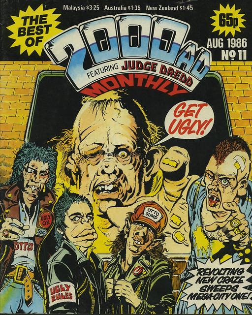 Comic Book Cover 2000AD 1986-08 No.11