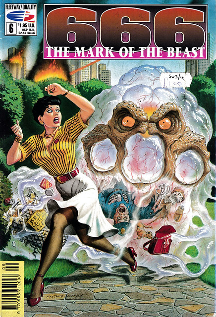 Comic Book Cover 666 The Mark of the Beast No 6